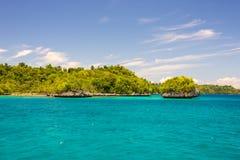 Scenic coastline in the Togian archipelago Stock Photo