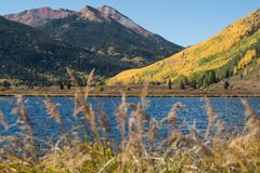 Scenic Colorado in Early Autumn stock photo