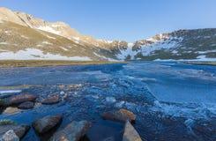 Scenic Colorado High Mountain Lake stock image