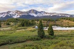 Beautiful Colorado Mountain Lake stock photos