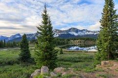 Scenic Colorado Mountain Lake at Sunrise stock image