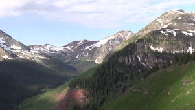 Scenic Colorado Mountains in Summer stock footage