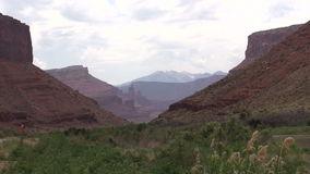 Scenic Colorado River Zoom Out stock footage