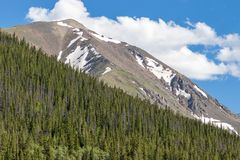 Scenic Colorado Rocky Mountain Peak in Summer. The scenic landscape of the Colorado rocky mountains in summer Stock Photography