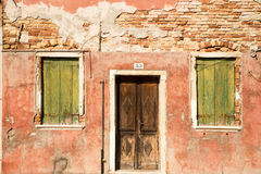 Scenic colorful house on Burano island, Venice Stock Photography