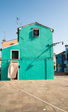 Scenic colorful house on Burano island, Venice Royalty Free Stock Images