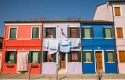 Scenic colorful house on Burano island, Venice Stock Photo
