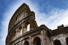 The scenic Colosseum, Colosseo Rome Italy. The scenic Colosseum, Rome Italy Royalty Free Stock Photography