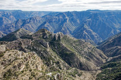 Scenic Copper Canyon in Mexico. Copper Canyon in Chihuahua, Mexico Stock Photo