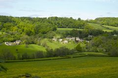 Scenic Cotswolds, Slad Valley in spring Royalty Free Stock Image