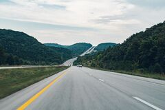 Scenic Country Highway Royalty Free Stock Images