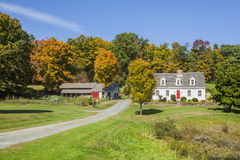 Scenic Country Home In Autumn Royalty Free Stock Photo