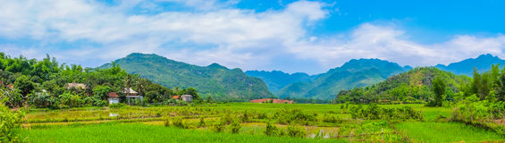 Scenic Countryside, Rural Landscape, Village, Panorama Stock Photography