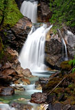 Scenic countryside waterfalls. Scenic view of beautiful waterfalls in countryside stock image