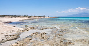 Scenic Crete beach at Crisi Island Stock Images