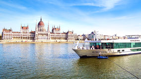 Scenic Crystal ship. Budapest, Hungary Royalty Free Stock Image