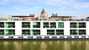 Scenic Crystal ship. Budapest, Hungary Royalty Free Stock Photography