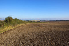 Scenic cultivated field Royalty Free Stock Photography