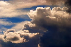 Scenic cumulus clouds Royalty Free Stock Image