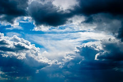 Scenic cumulus clouds Royalty Free Stock Photo