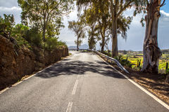 Scenic curvy road Royalty Free Stock Images