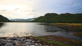Scenic of Dam in Kanchanaburi Royalty Free Stock Photos
