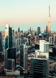 Scenic daytime skyline of downtown Dubai with skyscrapers. Stock Images
