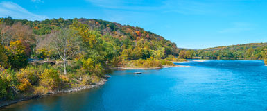 Scenic Delaware River Panorama Royalty Free Stock Image