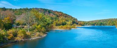 Scenic Delaware River Panorama Royalty Free Stock Image