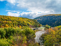Scenic Delaware Water Gap. A scenic view of the Delaware Water Gap between Pennsylvania and New Jersey Royalty Free Stock Photos