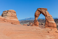 Scenic Delicate Arch Landscape Stock Photo