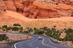 Scenic desert drive Stock Photos