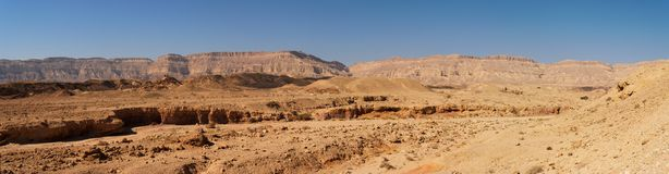 Scenic desert landscape in Negev desert Royalty Free Stock Photography