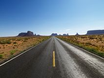 Scenic desert road. Stock Photo