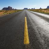 Scenic desert road. Stock Photos