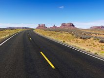 Scenic desert road. Royalty Free Stock Photography
