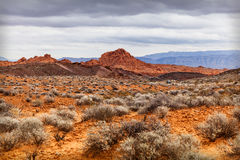 Scenic Desert at Valley of Fire, USA Royalty Free Stock Photo
