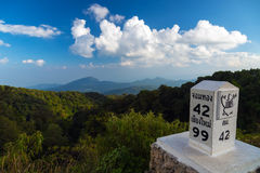 Scenic of Doi Inthanon National Park,Chaingmai,Thailand. Mountain landscape Royalty Free Stock Photo
