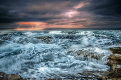 Scenic dramatic seascape Stock Image