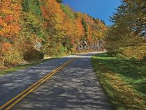 Scenic drive on blue ridge parkway Stock Images