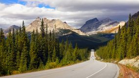 Scenic Drive Canadian Rockies Landscape, Canada. Scenic drive in Canadian Rockies. Banff National Park. Alberta, Canada Stock Photography