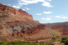 Scenic Drive Capital Reef NP. The Scenic Drive in Capital Reef National Park, from on high Royalty Free Stock Photography