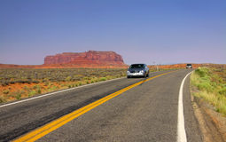 Scenic Drive In Monument Valley Royalty Free Stock Images