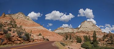 Scenic Drive In Zion National Park Stock Images