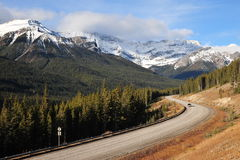 Scenic drive in mountains royalty free stock photo
