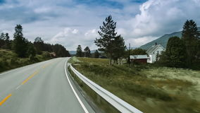 Scenic Drive, Norwegian Sea, Norway stock video footage