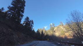 Scenic Drive Route 89a from Sedona to Flagstaff. stock footage