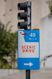 Scenic Drive sign in San Francisco 2012 Royalty Free Stock Photos