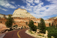 Scenic Drive Through Zion National Park Stock Photo