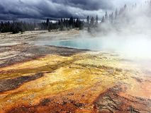 Yellowstone National Park thermal features of geysers royalty free stock images
